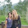 ROBIN LEVINSON, CO-OWNER OF LEVINSON JEWELERS, WITH ELLE MACPHERSON AT A JULY 4TH PARTY IN ASPEN
