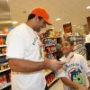 Reggie Bush, Dan Carpenter and Karlos Dansby host Fins and Kids Publix Shopping Spree