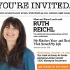 Lunch with Ruth Reichl, based on her new cookbook.