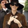 Celine Dion wears Borgioni and Pasquale Bruni in Paris
