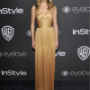 Halston Sage wore Maria Lucia Hohan at InStyle 18th Annual Post Golden Globes Party