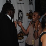 Clarence Clemons with Daedrian McNaughton at Hard Rock