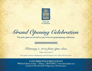 Invitation grand opening hotel 4k wallpapers fad irish pub restaurant invites you to the grand opening stopboris Images