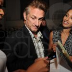 Sean Penn at Art Basel Miami Beach -Daedrian McNaughton and Rula Jebreal