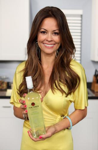 Actress and entrepreneur Brooke Burke hosts the launch of BACARDI CLASSIC COCKTAILS HAND-SHAKEN DAIQUIRI. (Bacardi U.S.A., Inc., Chelsea Lauren/WireImage)