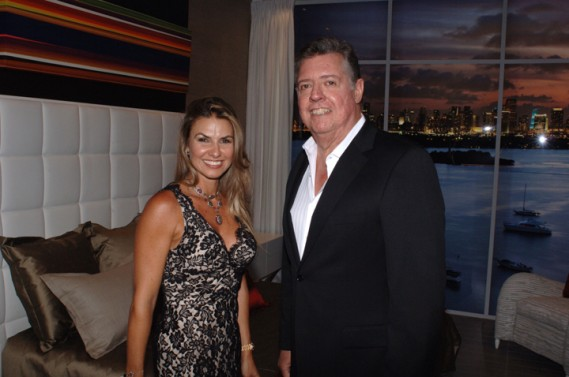 Lais Bacchi & Nick Luaces  at Artefacto Design House 2011 Grand Opening at Village of Merrick Park showroom. John Stillman Photography