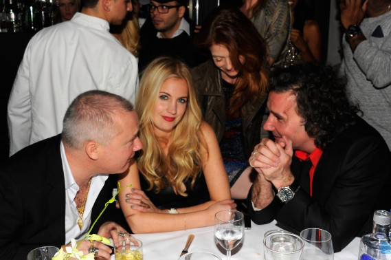 """Guests attend Andy Valmorbida, Jimmy Iovine, And Sean """"Diddy"""" Combs, Celebrate Culo By Mazzucco, Presented By VistaJet at Mr. Chow's on December 2, 2011 in Miami, Florida.  (Photo by Andrew H. Walker/Getty Images for Andy Valmorbida)"""