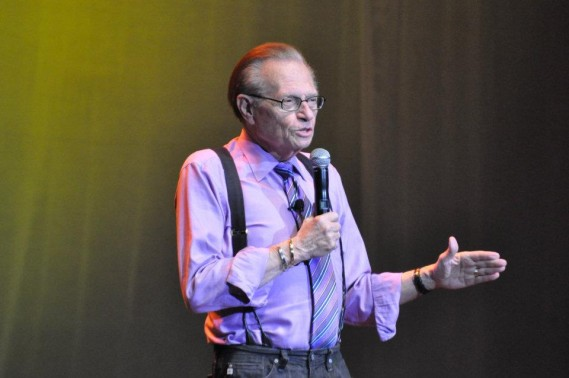 Larry King: Stand Up Comedy Tour at The Seminole Hard Rock Casino and Resort, Hollywood, Florida. By: Daedrian McNaughton and Gary Sandelier Premier Guide Media/Premier Guide Miami