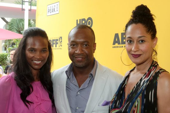 Nicole-Friday-Jeff-Friday-Tracee-Ellis-Ross attends the 2012 American Black Film Festival Opening Night Screening of ' Beast of the Southern Wild ' held at the Colony Theater on June 20, 2012 in South Beach Miami.
