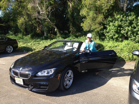 Daedrian McNaughton at the BMW Ultimate Driving Experience in Miami Premier Guide Miami