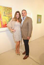 Pamela Cohen and Nick Korniloff at Vertes Gallery Booth at Art Miami
