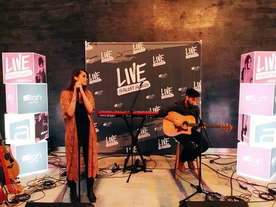 Jackie Stabb opens up for the Project: Aloft Star kick-off concert last night at Aloft South Beach