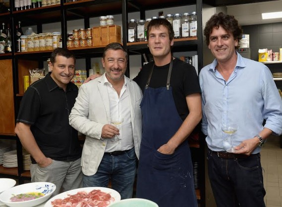 Josep Roca,David Rustarazo,Joan Roca and Pablo Fernandez-Valdes attends the KLIMA Restuarant And Bar Hosts A Private Dinner For The Three Roca Brothers And Renowned Culinary Icons, Joan Roca, Josep Roca, And Jordi Roca at KLIMA Restaurant & Bar on August 11, 2015 in Miami Beach, Florida.  (Photo by Gustavo Caballero/Getty Images for KLIMA Restuarant & Bar)