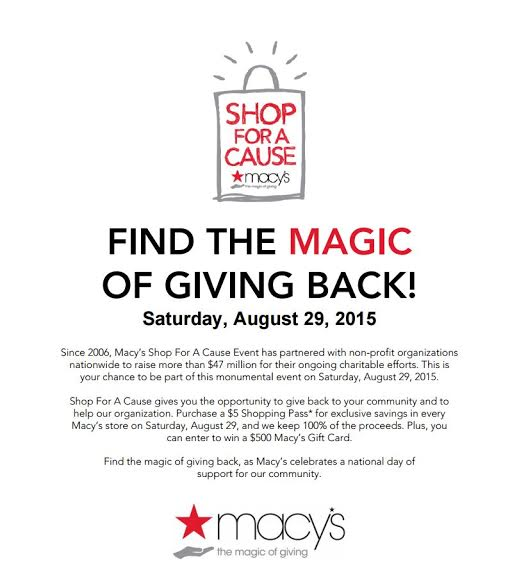 Macy's Shop For A Cause Event