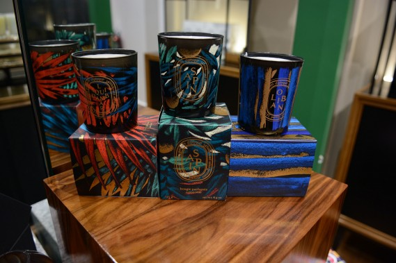 2015 Holiday Candles with Julien's work at diptyque boutique at Bal Harbour Shops, Miami