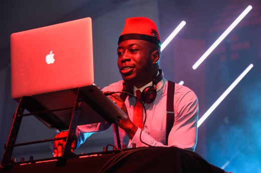 Nana Kwabena spins at The Dean Collection X BACARDI Untameable House Party on December 3, 2015 in Miami, Florida.
