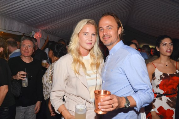 Janina Boss, Jonas Tahlin at Absolut Elyx and Water For People Art Basel benefit at Delano South Beach