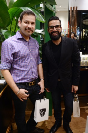 Peter Rodd & Jesse Rivas at diptyque boutique at Bal Harbour Shops, Miami