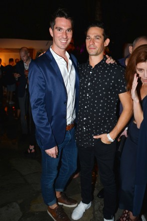 Tom Smith, Jonathan Rosen at Absolut Elyx and Water For People Art Basel benefit at Delano South Beach