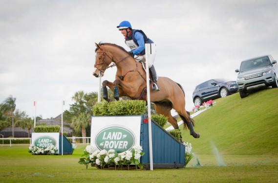 Phillip Dutton (USA) and Fernhill Fugitive at the Wellington Eventing Showcase in Wellington, Florida.