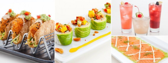 "Limited time menu offerings at RA Sushi: ""RA""ckin' Shrimp Tacos, Pacific Roll, three new drinks, Salmon Carpaccio (RA Sushi)"