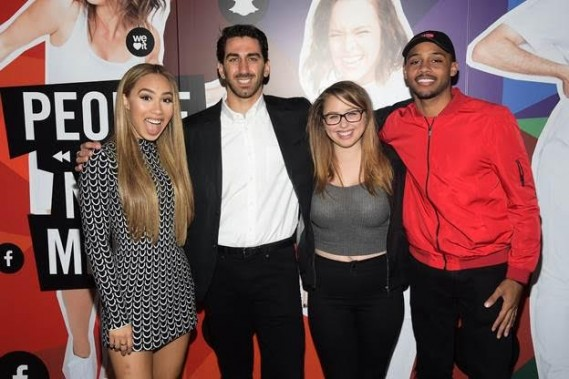 From left, Eva Gutowski, George Strompolos, Laci Green and Brandon Armstrong attend the Fullscreen Media NewFront event at the Altman Building on Monday, May 9, 2016 in New York.