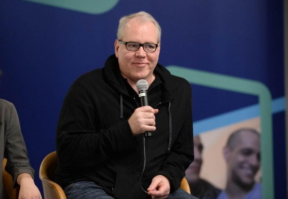 Bret Easton Ellis (esteemed writer of American Psycho & writer/director of upcoming Fullscreen original series 'The Deleted') discusses working with Fullscreen at the SVOD unveiling event at Fullscreen's NYC headquarters on April 25, 2016.