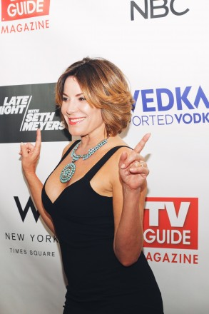 Luann de Lesseps (The Real Housewives of New York) attends a party celebrating the new issue of TV Guide Magazine at The Living Room at The W New York - Times Square. CREDIT: MK Photography