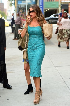 NEW YORK, NY - SEPTEMBER 21:  Actress Sofia Vergara is seen walking in soho on September 21, 2016 in New York City.  (Photo by Raymond Hall/GC Images)