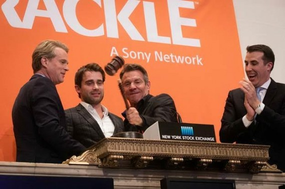 "Wednesday November 16th 2016 Officials and guests from Sony's Crackle ""The Art of More"" (NYSE: SNE) visit the NYSE to highlight their 2nd season which premieres on November 16. To honor the occasion, Dennis Quaid, Actor/Executive Producer, ""The Art of More,"" joined by actors Cary Elwes and Christian Cooke, ring The NYSE Closing Bell®. Photo Credit: NYSE Photo 15 (L-R): Christian Cooke; Dennis Quaid; Cary Elwes"