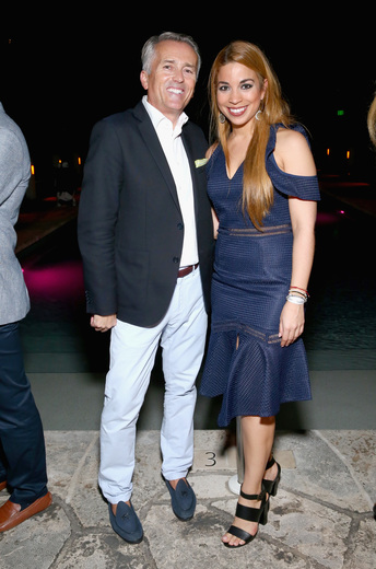 Paul Chevalier and Araceli Franco attend the DuJour Media, Gilt & JetSmarter party to kick off Art Basel at The Confidante on November 30, 2016 in Miami Beach, Florida. (Photo by Astrid Stawiarz/Getty Images for DuJour)