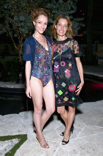 Designer Hollie Watman and Lis Harlow attends the DuJour Media, Gilt & JetSmarter party to kick off Art Basel at The Confidante on November 30, 2016 in Miami Beach, Florida. (Photo by Astrid Stawiarz/Getty Images for DuJour)
