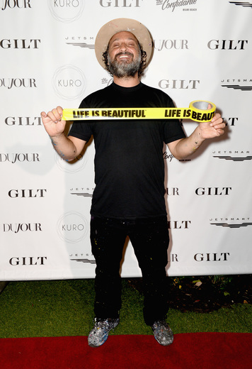 Artist Mr. Brainwash attends the DuJour Media, Gilt & JetSmarter party to kick off Art Basel at The Confidante on November 30, 2016 in Miami Beach, Florida. (Photo by Gustavo Caballero/Getty Images for DuJour)