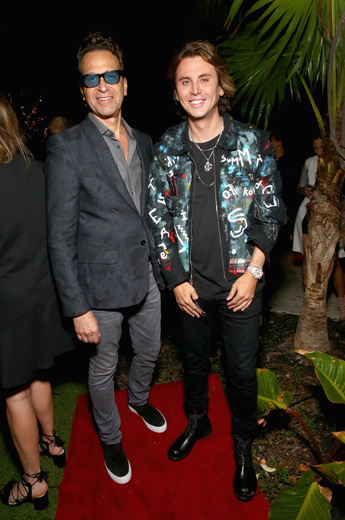 Dr. Richard Firshein and TheDishh.com founder Jonathan Cheban attend the DuJour Media, Gilt & JetSmarter party to kick off Art Basel at The Confidante on November 30, 2016 in Miami Beach, Florida. (Photo by Astrid Stawiarz/Getty Images for DuJour)