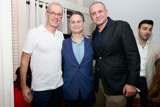 Founder of Gilt Group Kevin Ryan, Founder of DuJour Jason Binn and CMO of JetSmarter Ronn Torrosian attend the DuJour Media, Gilt & JetSmarter party to kick off Art Basel at The Confidante on November 30, 2016 in Miami Beach, Florida. (Photo by Astrid Stawiarz/Getty Images for DuJour)