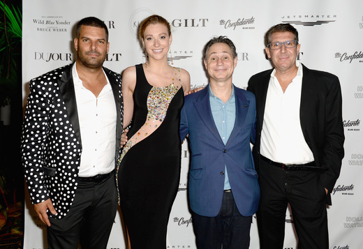 (L-R) InList co-founder Gideon Kimbrell, Ray Garrison, DuJour founder Jason Binn and InList CEO Michael Capponi attend the DuJour Media, Gilt & JetSmarter party to kick off Art Basel at The Confidante on November 30, 2016 in Miami Beach, Florida. (Photo by Gustavo Caballero/Getty Images for DuJour)