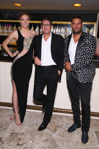 (L-R) Ray Garrison and InList co-founders Michael Capponi and Gideon Kimbrell attend the DuJour Media, Gilt & JetSmarter party to kick off Art Basel at The Confidante on November 30, 2016 in Miami Beach, Florida. (Photo by Astrid Stawiarz/Getty Images for DuJour)