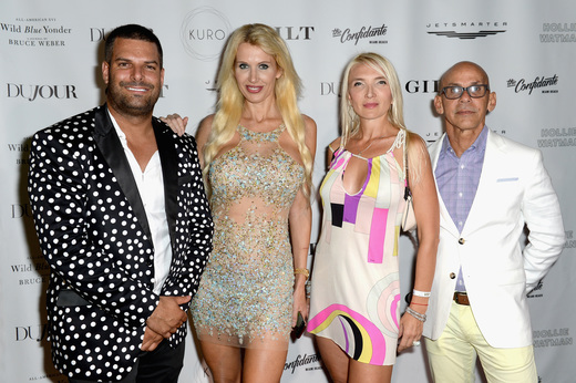 InList co-founder Gideon Kimbrell and guests attend the DuJour Media, Gilt & JetSmarter party to kick off Art Basel at The Confidante on November 30, 2016 in Miami Beach, Florida. (Photo by Gustavo Caballero/Getty Images for DuJour)