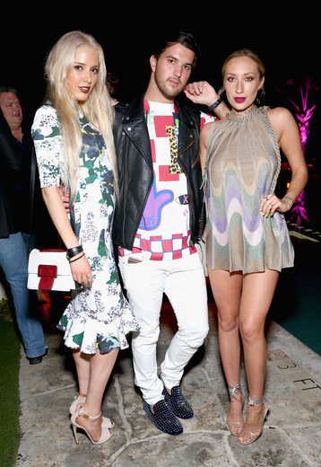 (L-R) Karen Shiboleth, Andrew Warren, and Gaia Matisse attend the DuJour Media, Gilt & JetSmarter party to kick off Art Basel at The Confidante on November 30, 2016 in Miami Beach, Florida. (Photo by Astrid Stawiarz/Getty Images for DuJour)