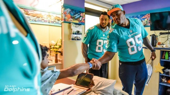 Thomas Duarte and Dominique Jones at Baptist Childrens Hospital