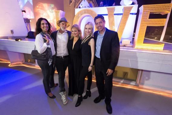 Sandra Lee, Kelley Blevins, Joanna Berg, Guest of Kelley Blevins, Eddie Otero