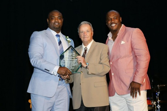 Henri Crockett, Bobby Bowden, last year's Derby Days Preakness Party honoree, and Zack Crockett