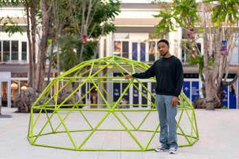 Bird Feeders and Play Structures by Dozie Kanu