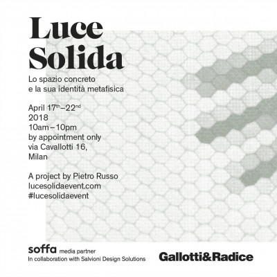 Gallotti&Radice presents Luce Solida art installation