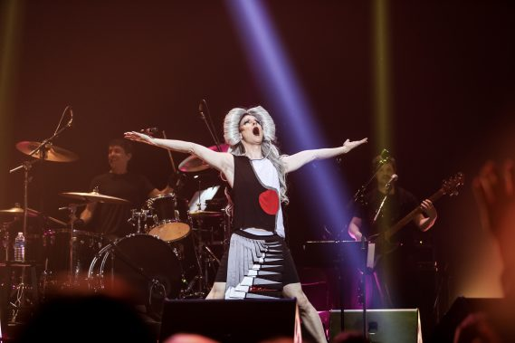John Cameron Mitchell as Hedwig - Photo by Michael Muser