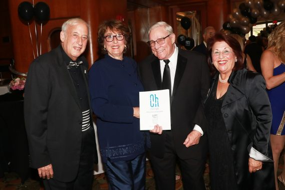 Actors' Playhouse Founding Chairman of the Board Dr. Lawrence E. Stein and Executive Producing Director Barbara S. Stein (R), with Susan and Bob Soper. Photo by Alberto Romeu.