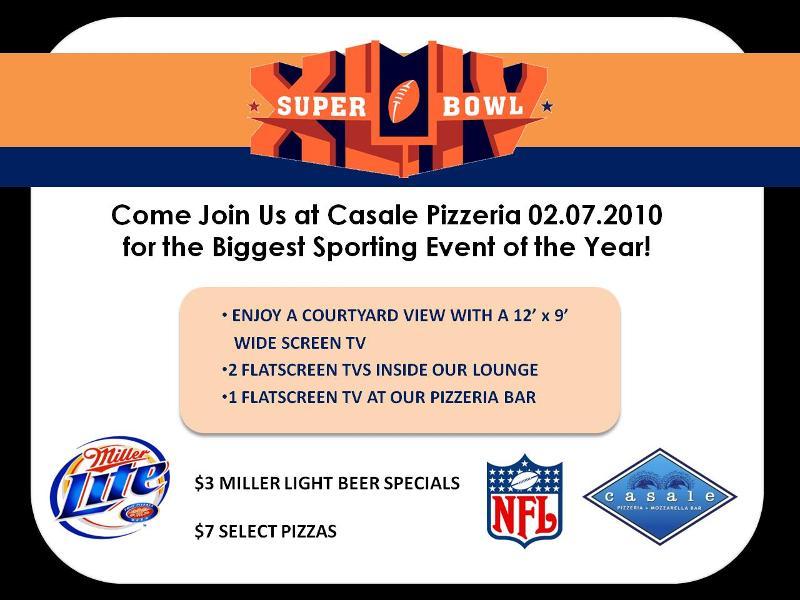 Super Bowl Sunday at Casale