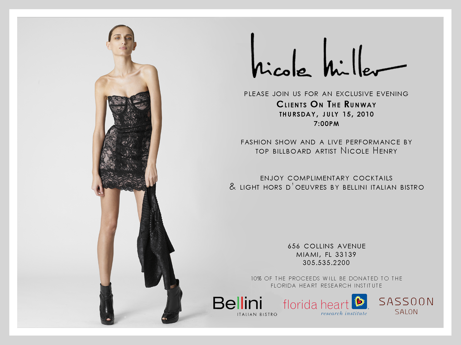 Nicole Miller Miami Hosts An Exclusive Evening To Benefit The Florida Heart Research Institute Premier Guide Miami