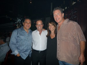 Art Falcone, Mark Levinson of Levinson Jewelers, Marci Falcone and NFL Hall of Fame Quarterback Dan Marino at a dinner benefiting the Crohns Colitis Foundation that took place at Anthony's Runway 84 on October 19, 2010.