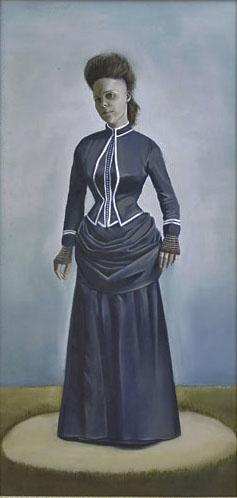 "Barbara Rivera  Luisina, 2008  Oil on board  12""x24"""